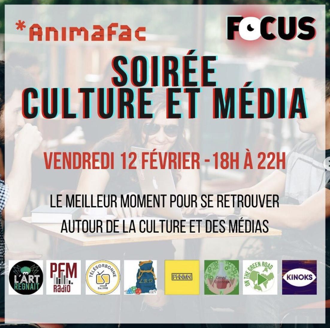 Soirée culture et média Focus Animafac